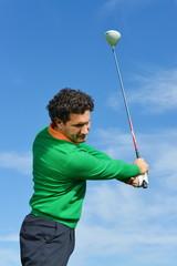 Male Golf Swing