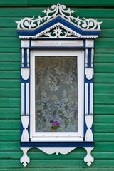 Rostov the Great. Window with carved architraves