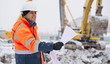 Civil Engineer At Construction Site - 75740466