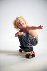 Junger skateboarder
