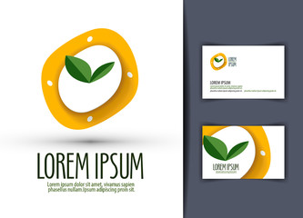 Watches, diet, eating. Logo, icon, emblem, template, business