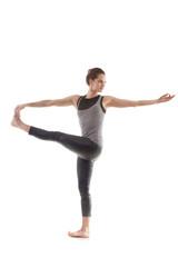 Yoga pose parivritta hasta padangushthasana