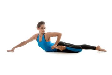 Yoga girl practicing
