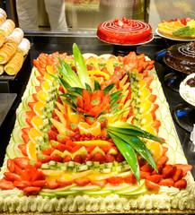 Torta alla frutta e dolci, fuoco selettivo
