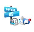 icons contact us communication illustration