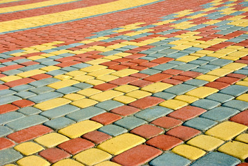 colored pavement as background