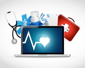 computer medical concept illustration