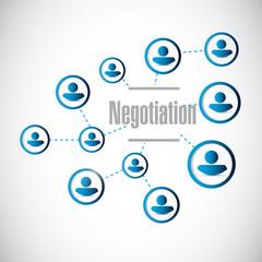 negotiation people network illustration