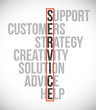 service selection illustration design