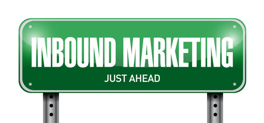 inbound marketing street sign illustration