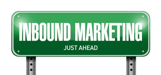 inbound marketing street sign illustration