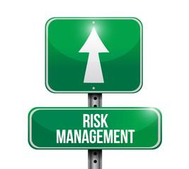 risk management street sign illustration