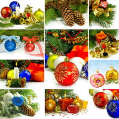 mix a Christmas tree and Christmas decorations
