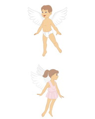 Girl and boy angels