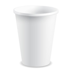 White Paper / Plastic Isolated Cup with Shade, Vector
