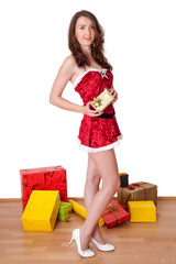 Woman with Christmas packages
