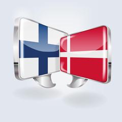 Sprechblasen in finnisch und dänisch