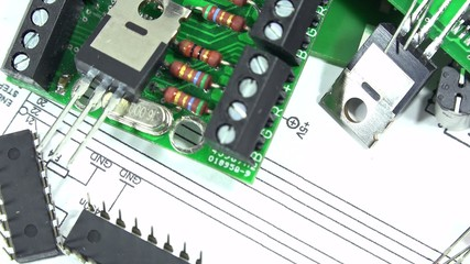 Electronic Components (close-up, not loopable)