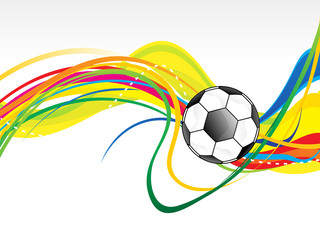 abstract artistic football wave background