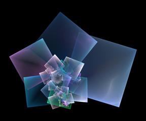 spiraling squares fractal