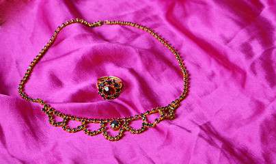 antique garnets jewelry set