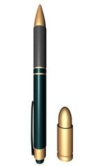 Pen tegen kogel