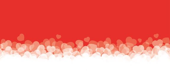 Banner rosso e cuori