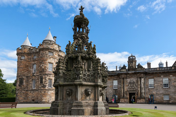 Holyrood Palace in Edinburgh, Scotland, UK