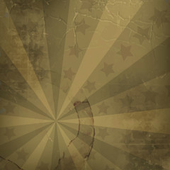 Retro vector background with grunge effect for vintage design