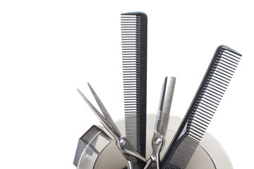 Professional Hairdresser's tools. - Stock Image