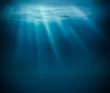 Leinwandbild Motiv Sea deep or ocean underwater