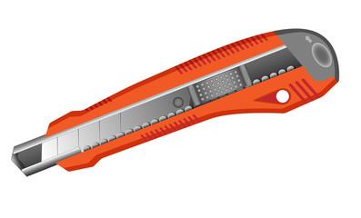 isolated orange penknife