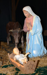 France, nativity scene in Triel sur Seine church