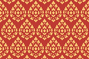 golden thai style pattern