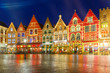 Christmas Old Market square in the center of Bruges, Belgium - 75749867