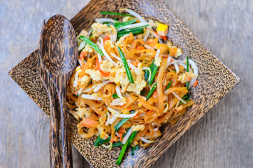 Pad Thai,stir-fried Thai style small rice noodles