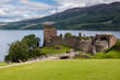 Leinwanddruck Bild - Urquhart Castle beside Loch Ness in Scotland, UK.