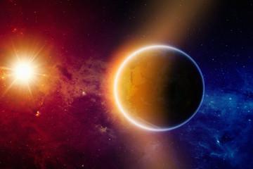 Glowing planet Earth