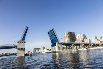 Fort Lauderdale Intracoastal Waterway with drawbridge