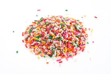 Sprinkles isolated on white background