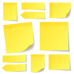 Yellow Stick Notes Set