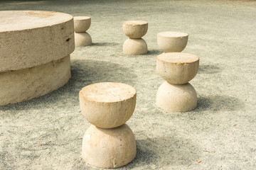 The Table Of Silence Is A Stone Sculpture By Constantin Brancusi