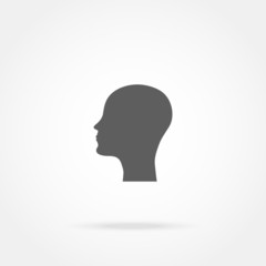 silhouette of a man head icon