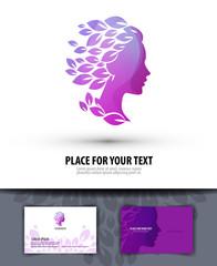 Beauty salon. Logo, icon, emblem, template, business