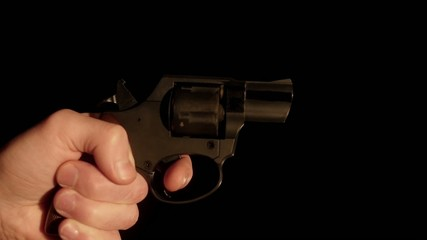 HD - Revolver shooting with sound