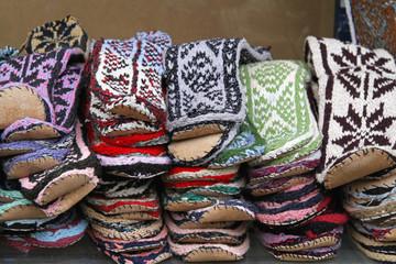 Wool socks slippers