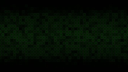 Green Animated Squares Abstract Background