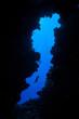 Scuba Diver and Cave