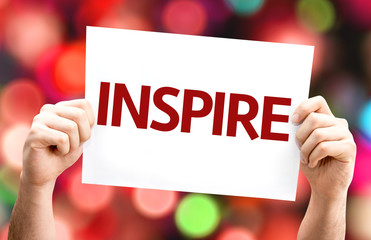 Inspire card with colorful background