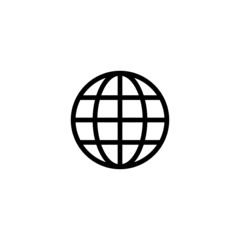 Globe Trendy Thin Line Icon